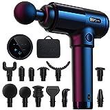 Pistola per Massaggio Muscolare konjac, 30 Velocità Massage Gun Super Silenziosa Portatile Elettico per Muscoli Regolabile con Touchscreen LCD e 12...